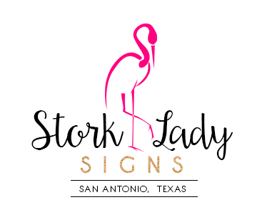 Stork Lady Signs